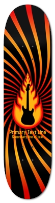 Guitar With Fire Graphics