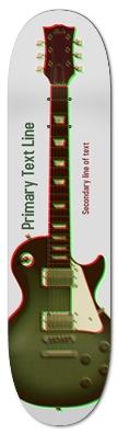 3D Halftone Guitar