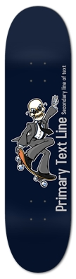Skeleton Business Suit Skateboarder