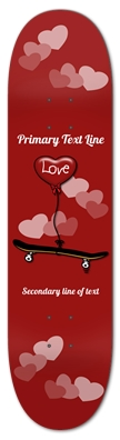 Love Skateboarding Heart Balloon