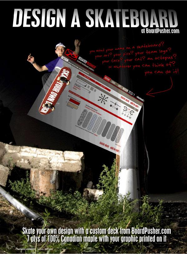 Design A Skateboard Ad