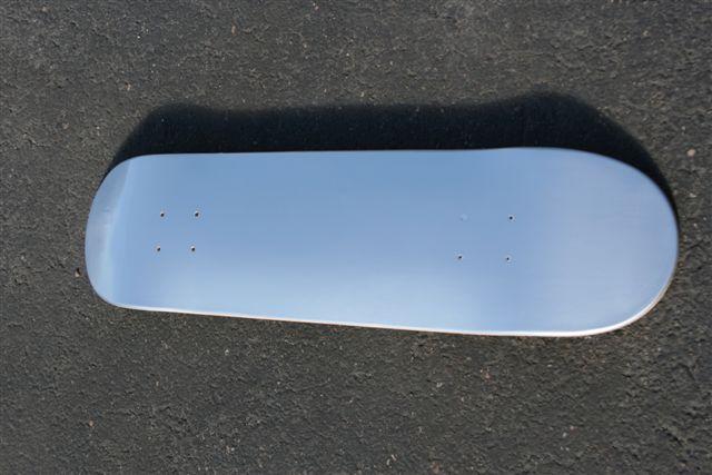 Blank Silver Background Skateboard