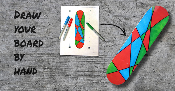 Draw Your Own Skateboard Graphic