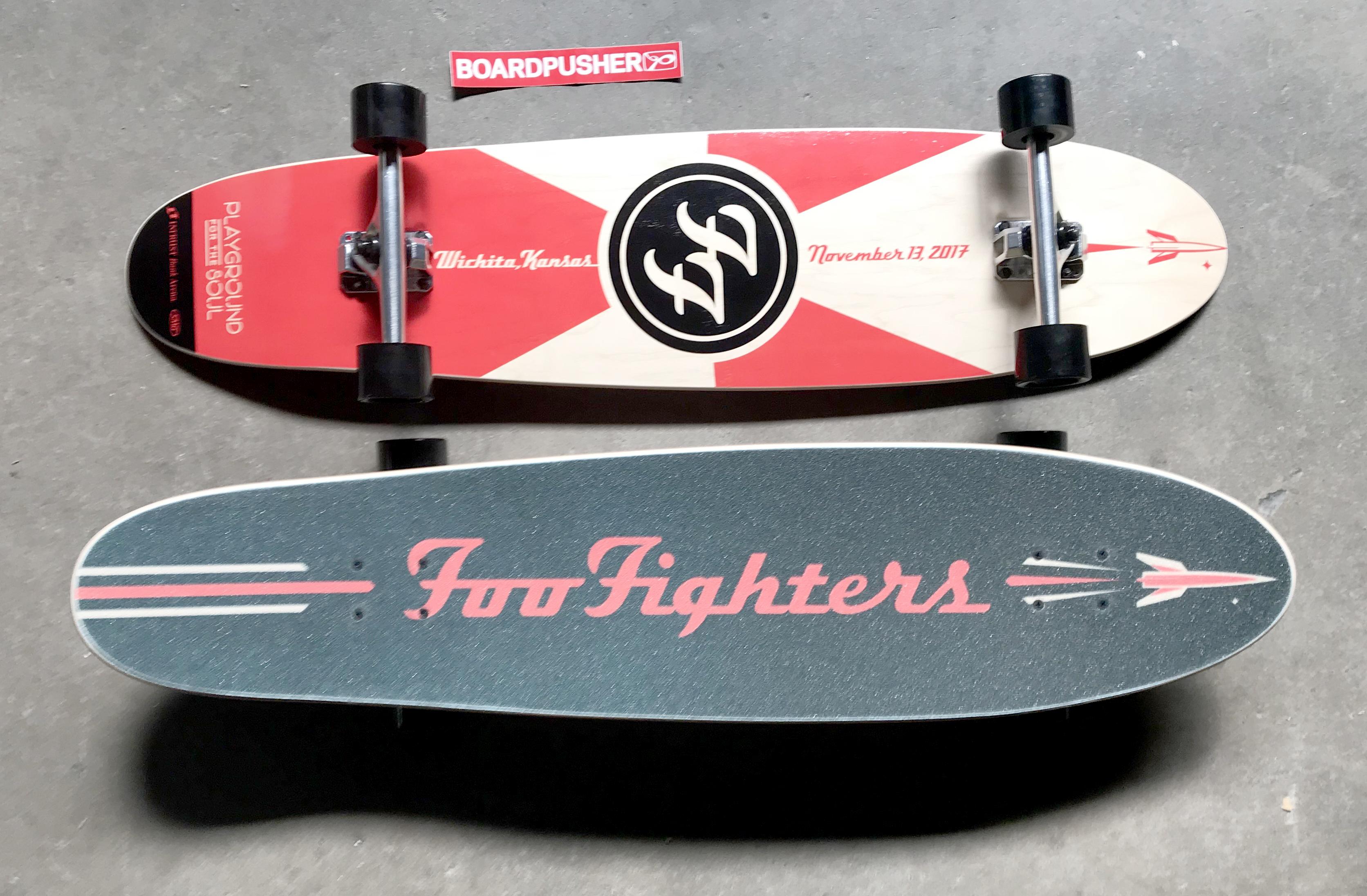 Featured Deck and Grip of the Day: Foo Fighters Longboard by INTRUST