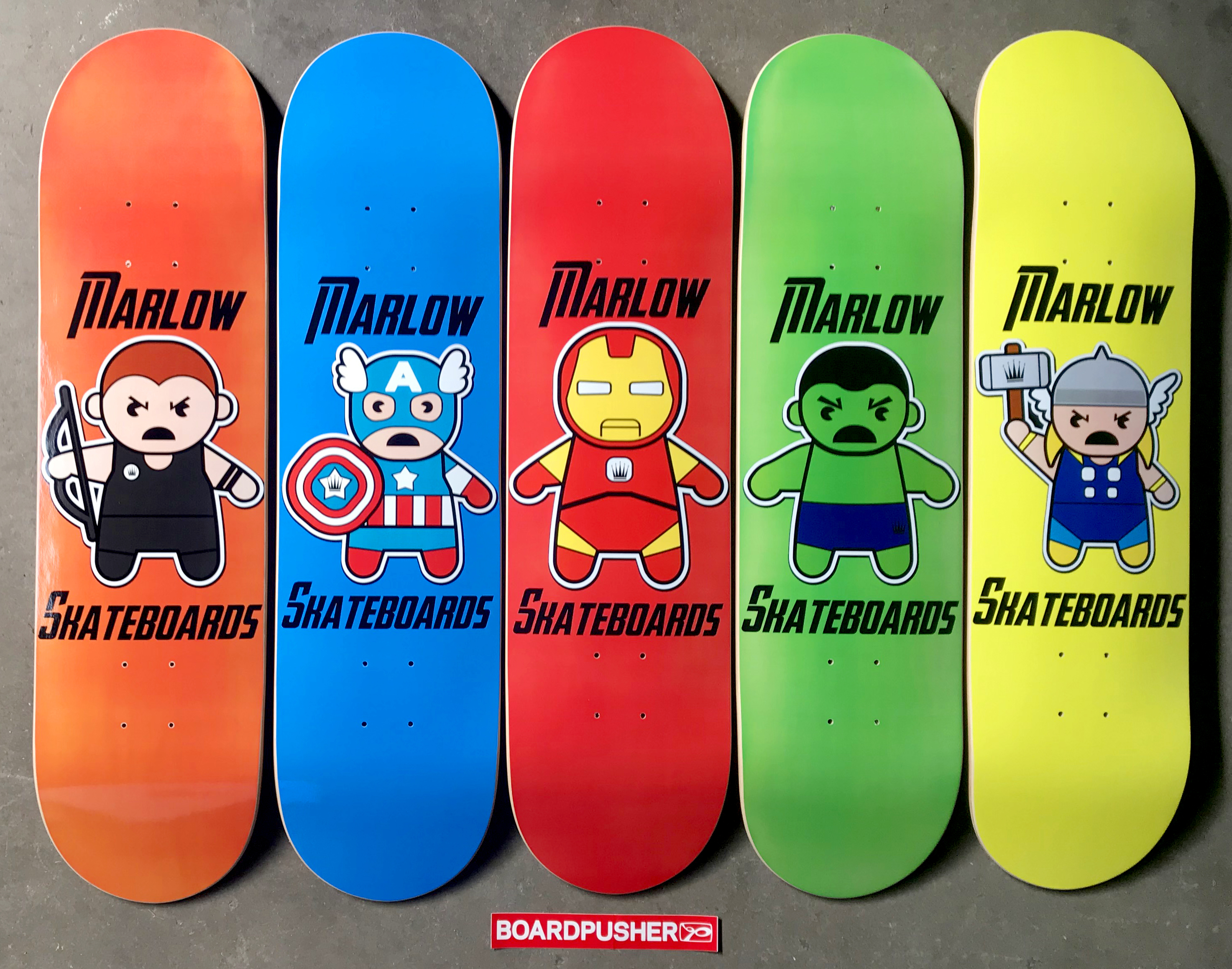 Featured Decks of the Day: Super Hero Series by Marlow Skateboards |