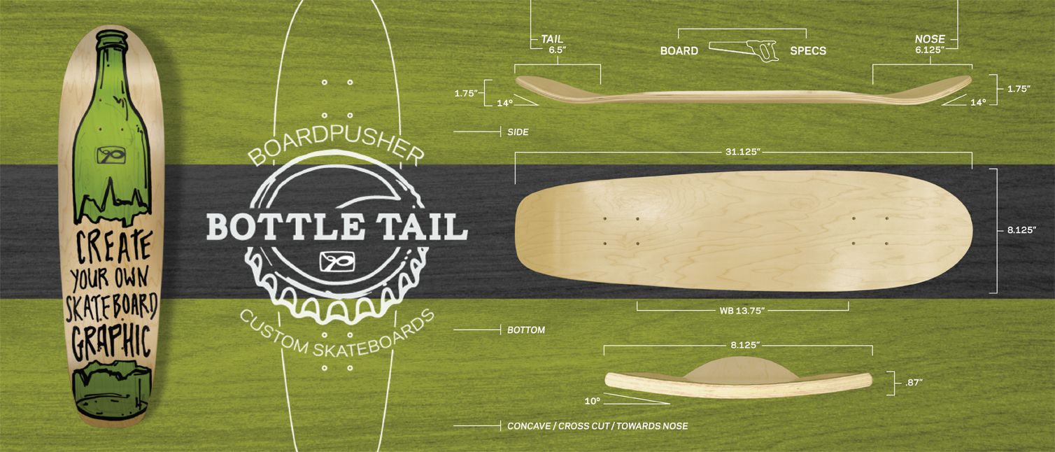 Bottle Tail Custom Skateboard