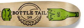 Bottle Tail Skateboard Deck