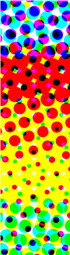 Abstract Color Halftone Dots